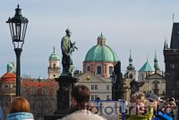 Statues and sculptures on the Charles Bridge